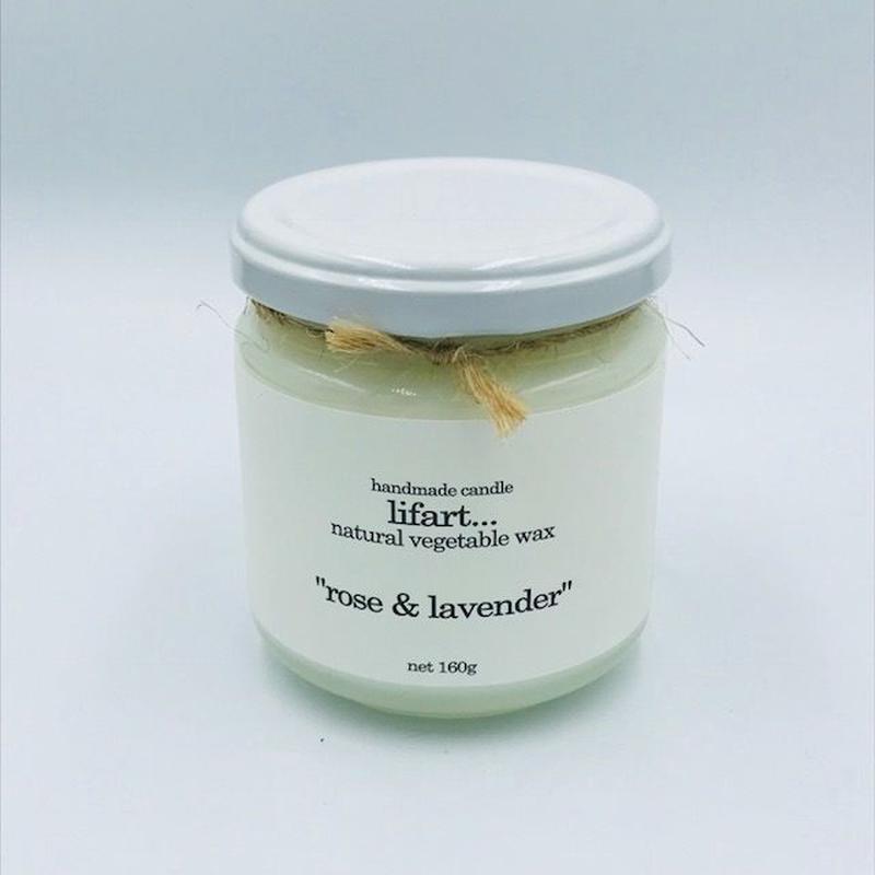 lifart...(リファート)  フレグランスキャンドル rose&lavender