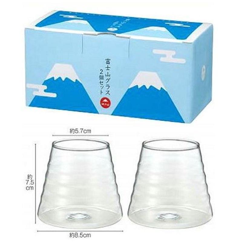 ●富士山グラス 2客組 24セット 1セット@850