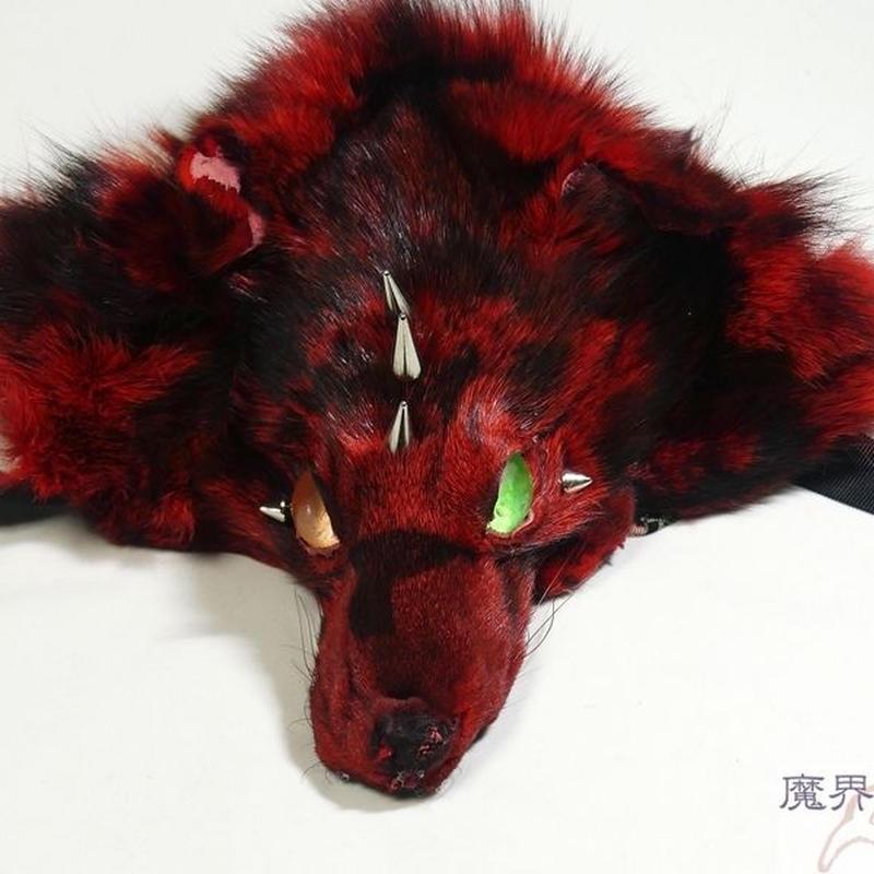 けものヘッドドレス(トゲ付き・赤黒)