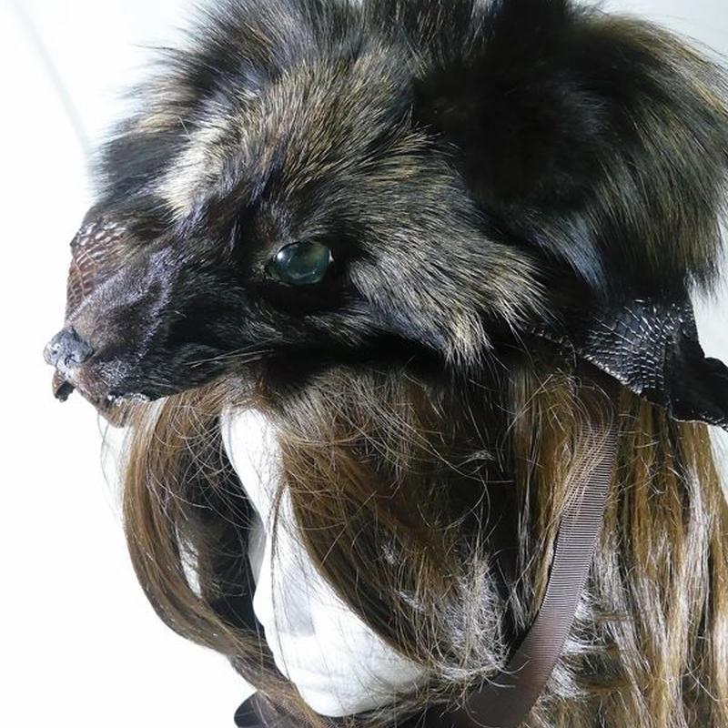 シルバーフォックスのヘッドドレス(ブラウン)