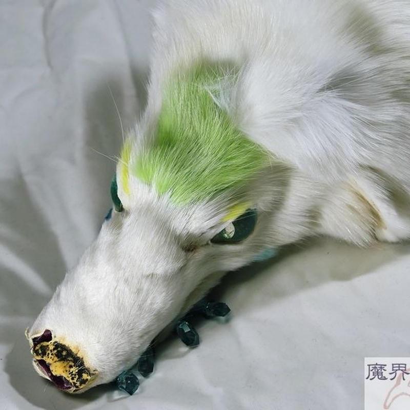 けものブレスレット(白・黄緑)