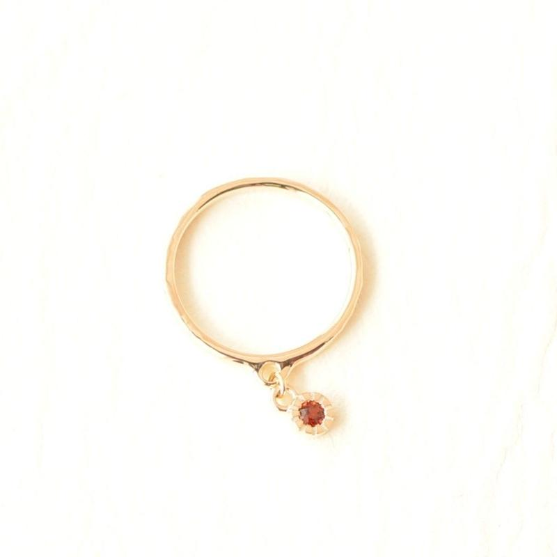 Garnet Ring (K10YG) #3