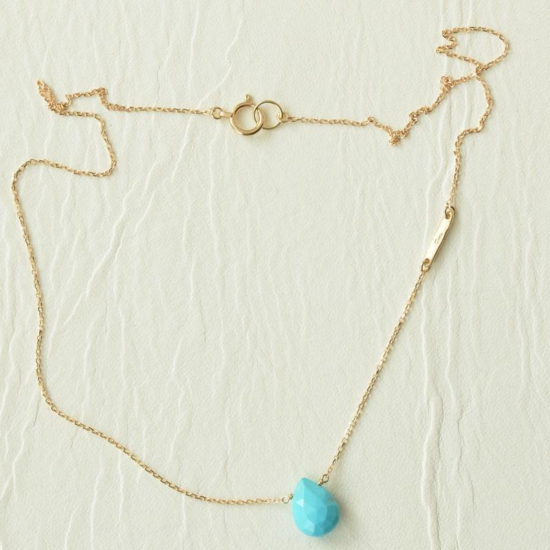 Turquoise necklace(38cm)