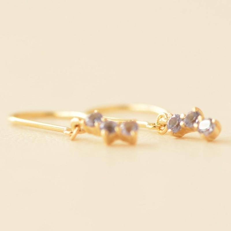 Tanzanite Pierce (K18YG)