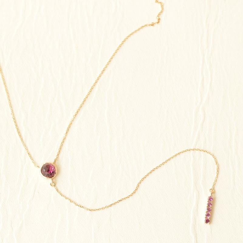 Rhodolite Garnet Necklace  (SNN-060RG-long)