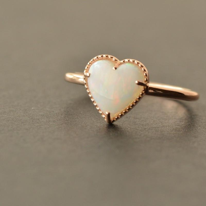 ♡Opal Ring  #12  (UNR-001-OP K18PG)