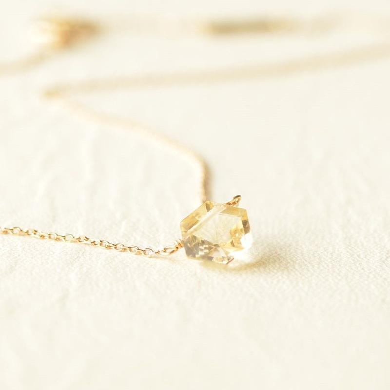 Citrin Necklace (K10YG)