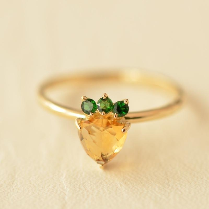 Yellow ichigo ring  #12 (ichigo-ring-006 K18YG)