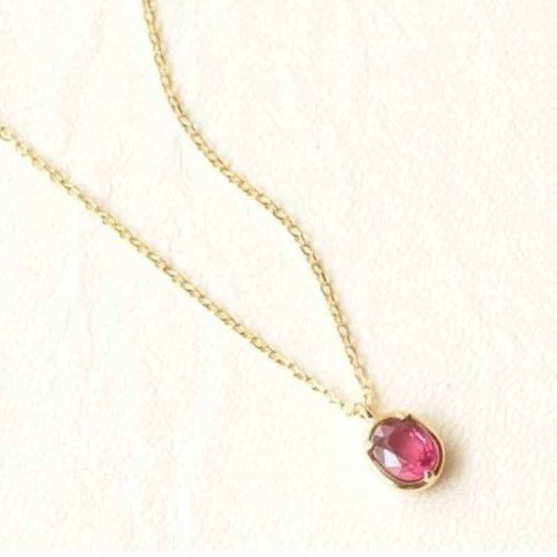 Ruby Necklace K18YG (RUN-003) 40cm