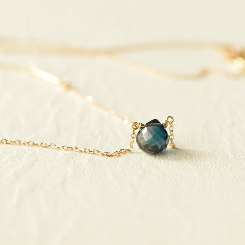 London Blue Topaz Necklace (K10YG)
