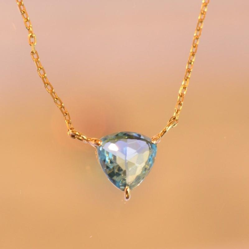 Blue Topaz Necklace (K10YG)
