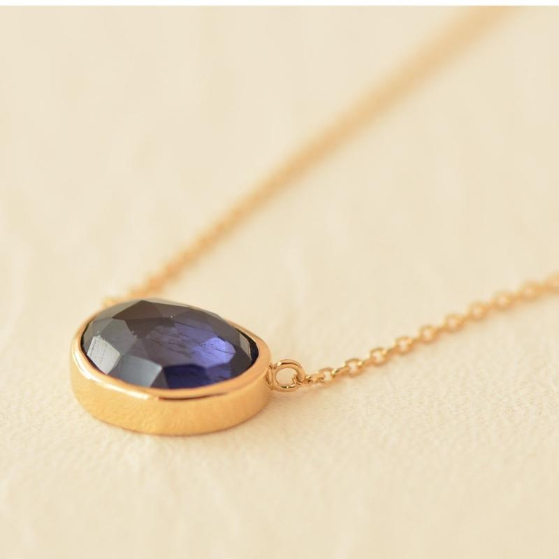 Iolite Necklace  (iro-030AI K18YG)