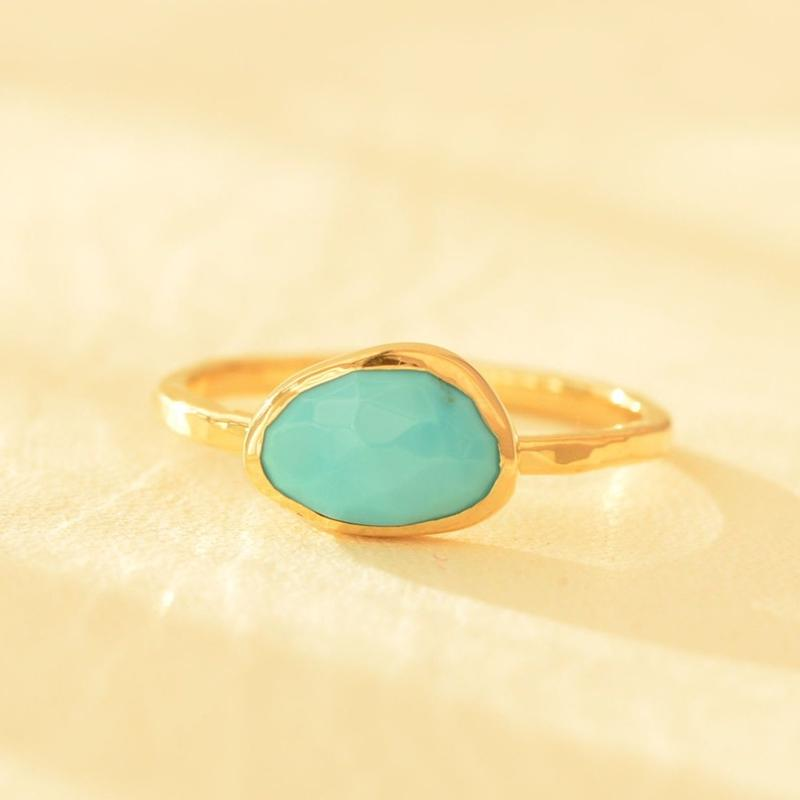 Turquoise Ring  #10.5 (UNR-003-TQ K18YG)