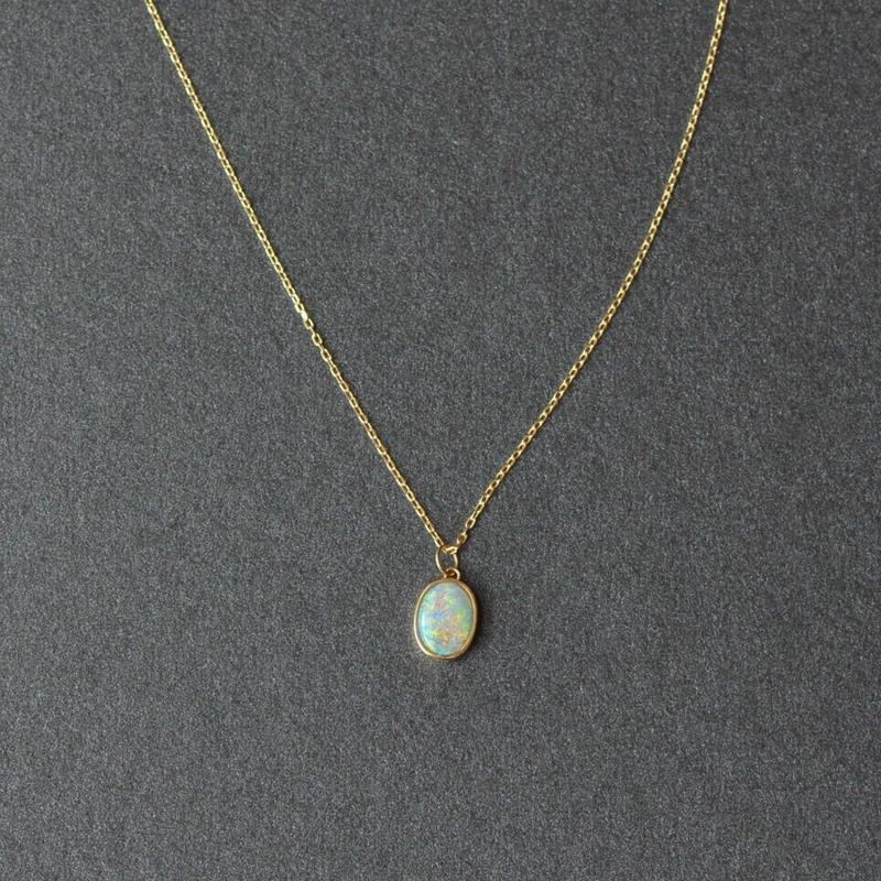 Australia Opal Necklace (K18YG)