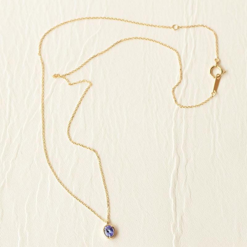 Tanzanite Necklace (SNN-058TAN K18YG)