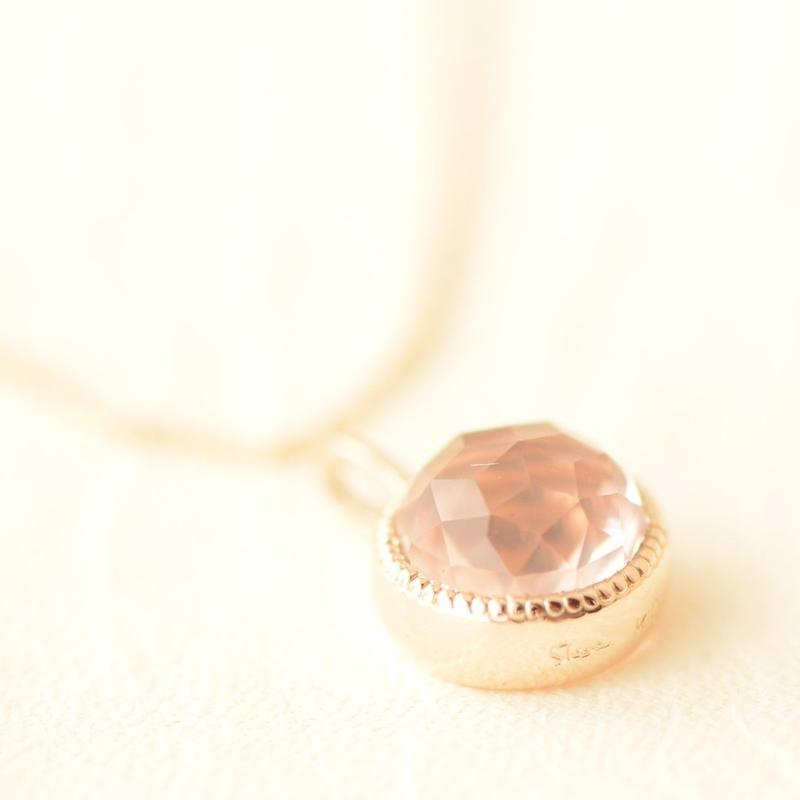 Rose Quartz Necklace  (SNN-056RQ)