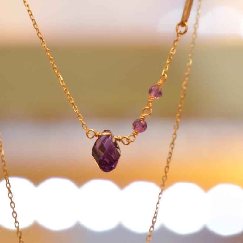 Amethyst Necklace (SNN-047AM)