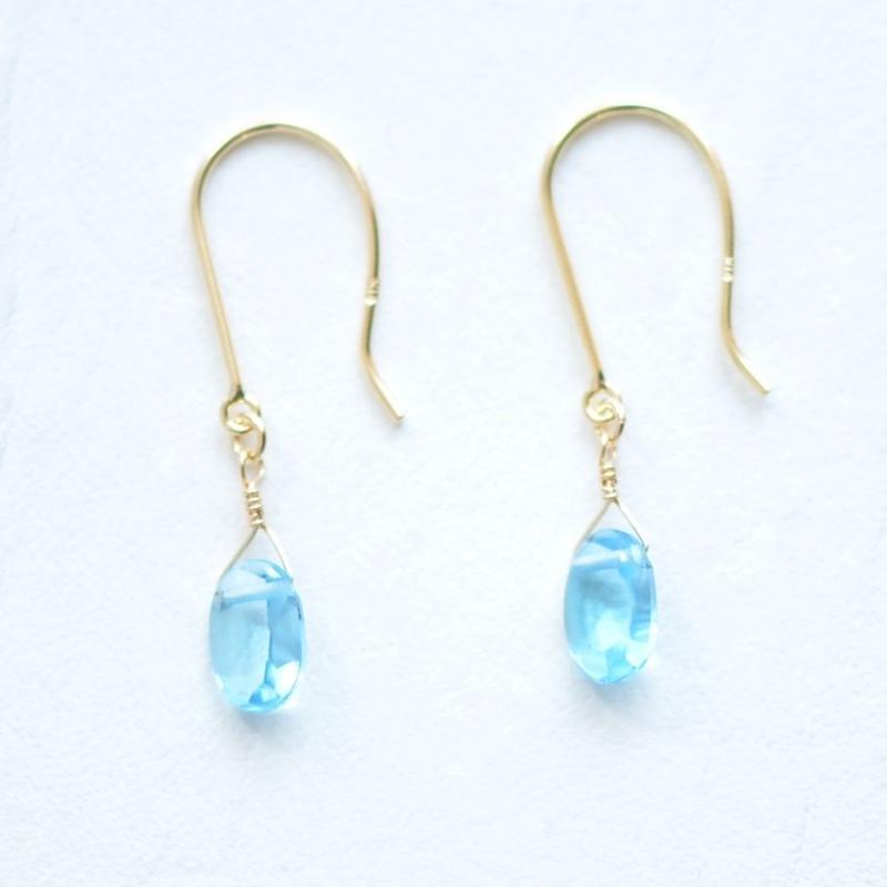 Blue Topaz pierce (SNN-091BT K18YG)