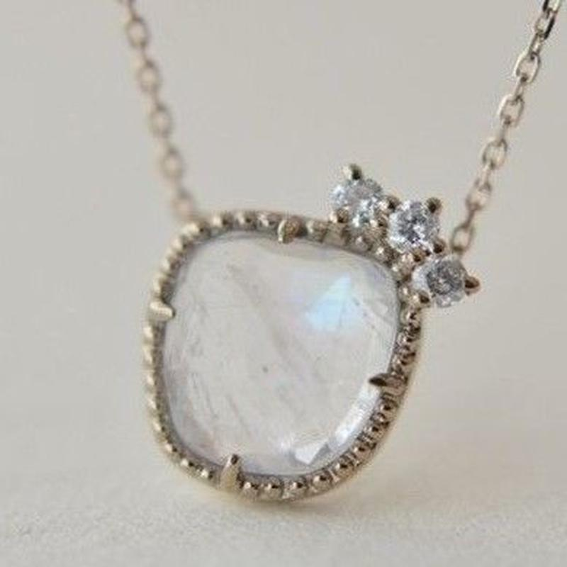 Labradorite diamond necklace (ichi-nec-002WLB K18WGN)