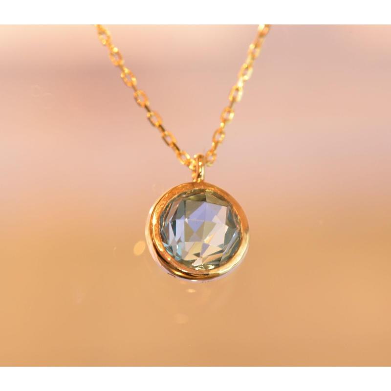 London Blue Topaz Necklace(K10YG)