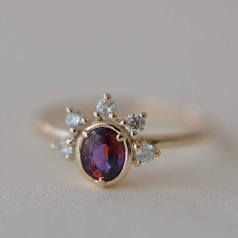 Sapphire Diamond Ring #10  (SAR-008dia)