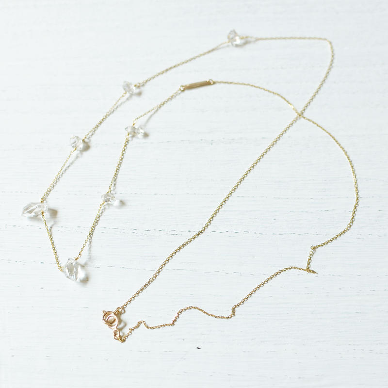 Herkimer Diamond long Necklace (SNN-066HD)