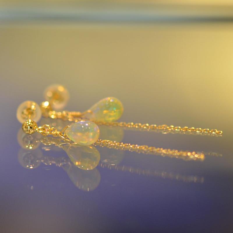 opal pierce (SNP-068op-SC K18YG)