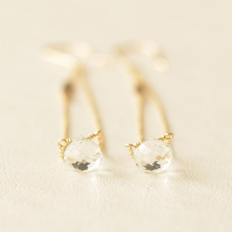 white topaz long pierce (SNP-101WT-F)
