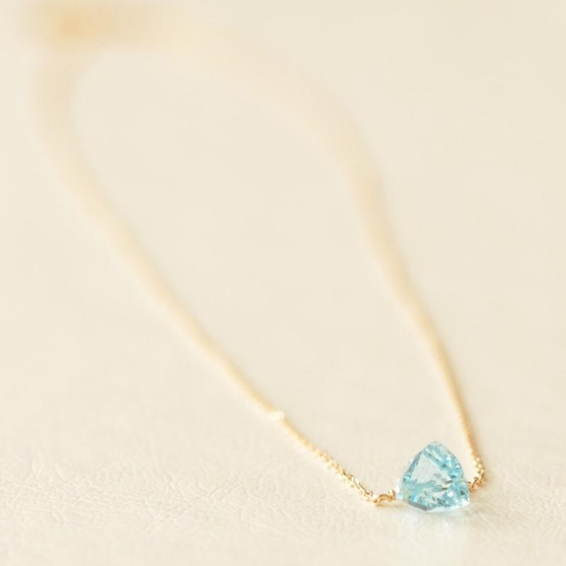 Blue Topaz Necklace  (SNN-050BT)