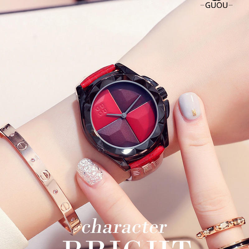 Guou 腕時計 フォースプリット  レディース