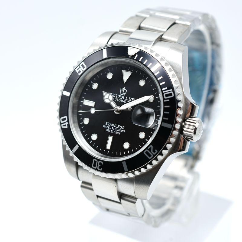 PETER LEE 腕時計 クラシック 自動機械式 メンズ フルスチール 防水