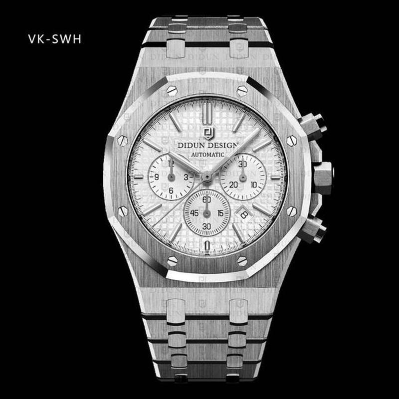 Didun design  クロノグラフ  クォーツ腕時計  ミリタリー メンズ 防水 カラー選択可能