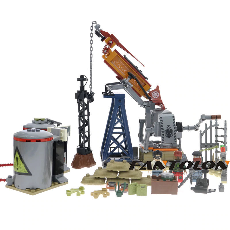 レゴ互換 ミリタリーシリーズ 石油ベースモデルビルディングブロック swat