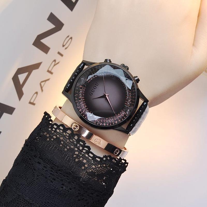GUOU 腕時計 レディース  レザー
