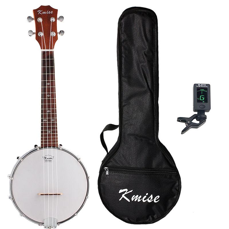 Kmise 4弦バンジョー型 ウクレレギター 23インチ