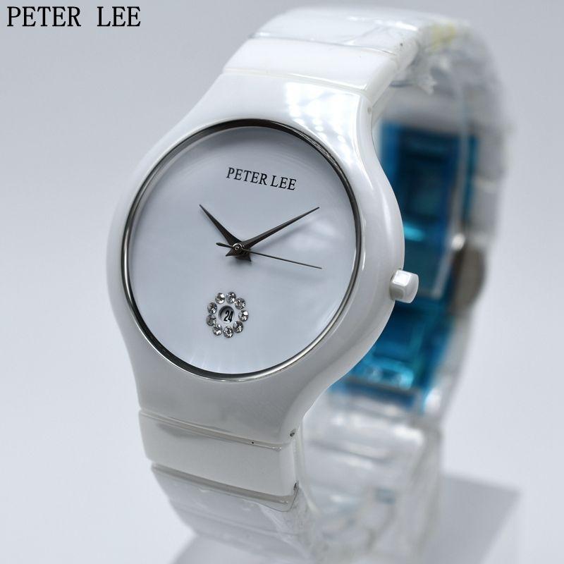 PETER LEE セラミック クォーツ腕時計 シンプル 防水 エレガント レディース