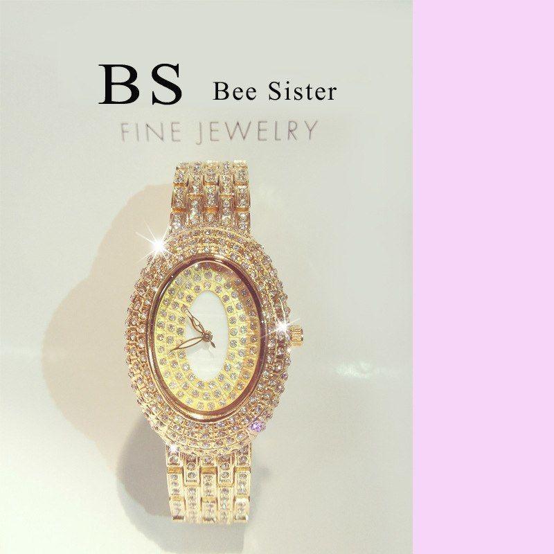 BS bee sister  クォーツ腕時計 クリスタル