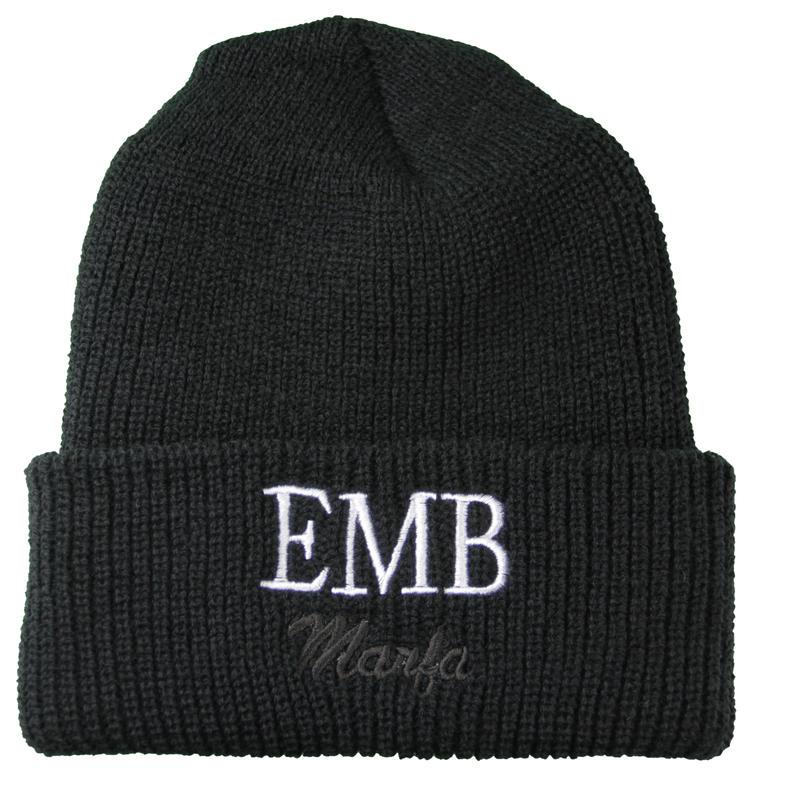 EMB Knit Cap Black