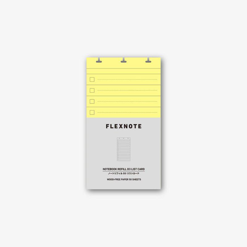 D3  LIST CARD *