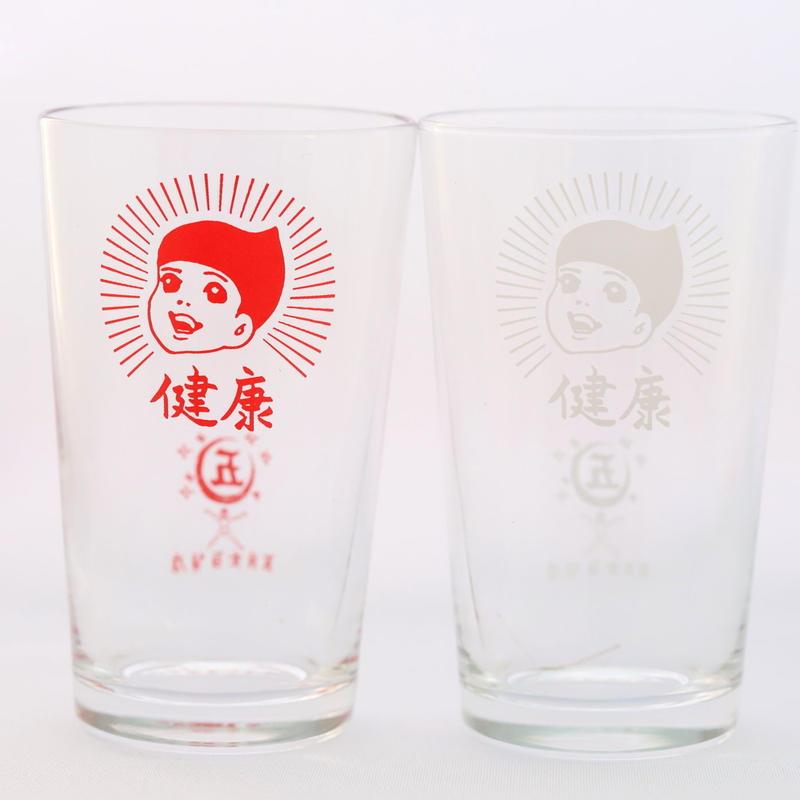 【五月女百貨店謹製】健康グラス紅白セット