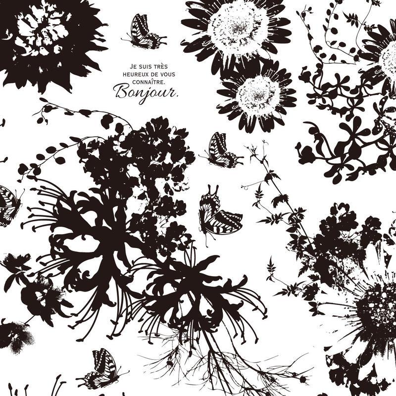Flower Modern/ブラック