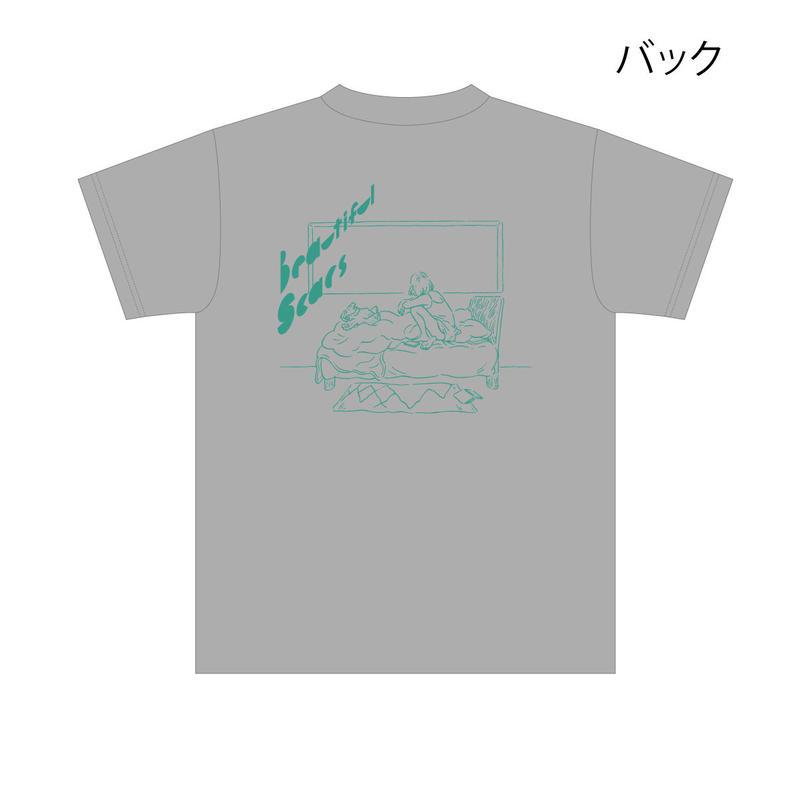 美しい傷Tシャツ (グレー)