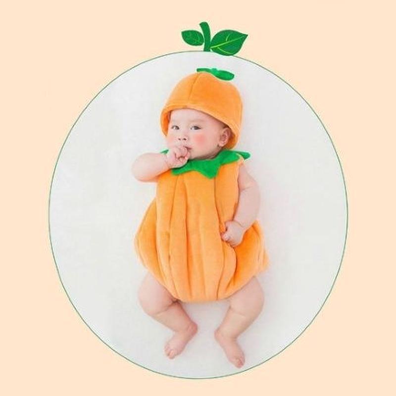 ハロウィン ベビー 出産祝 パンプキン コスプレ