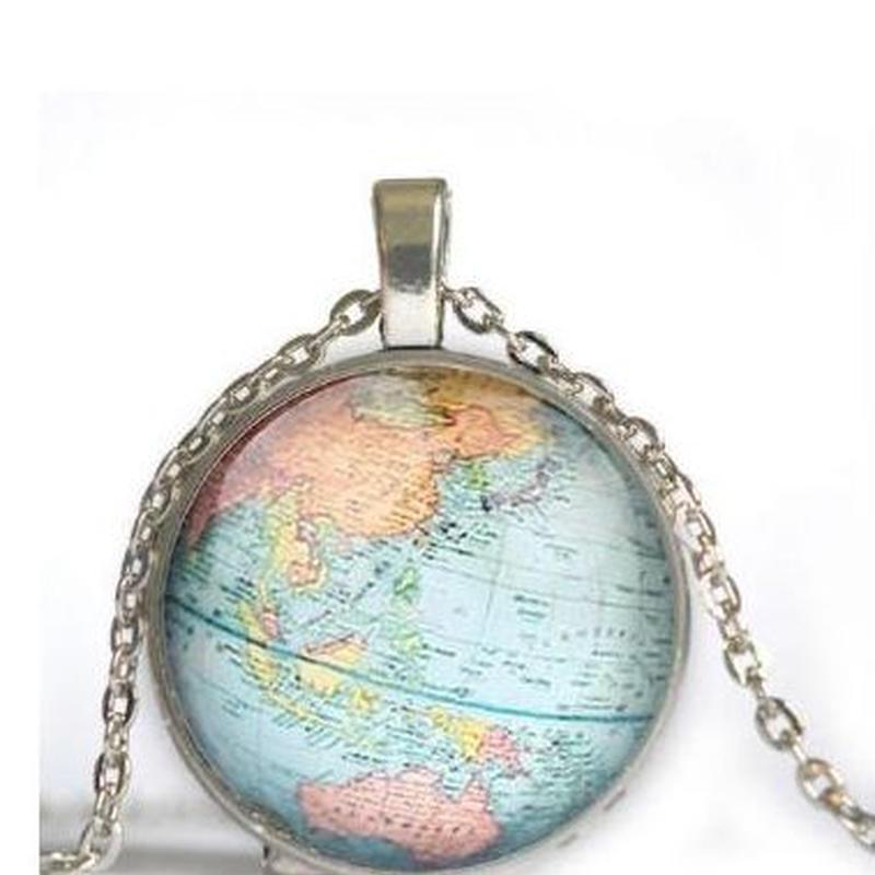 ヴィンテージ 地球 ネックレス ブルー