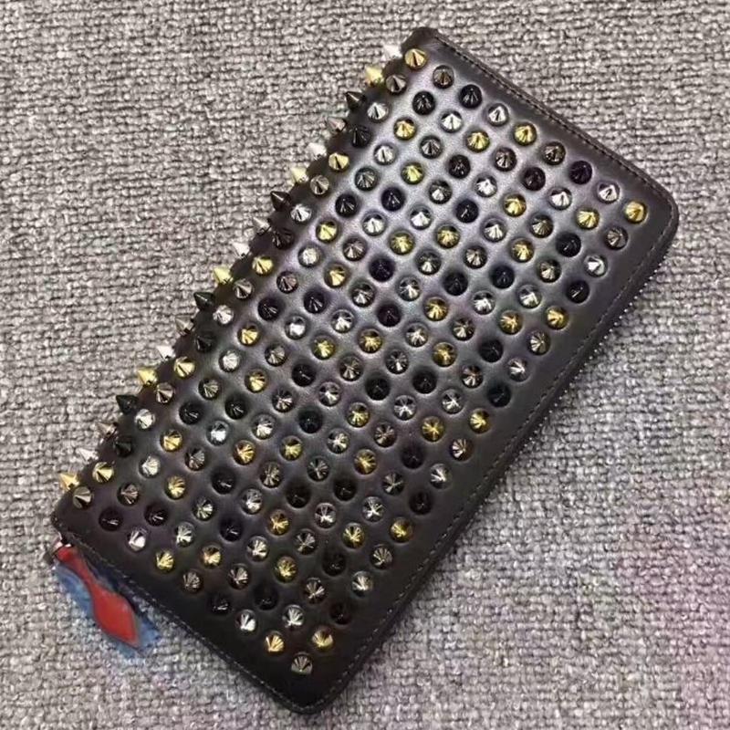 ロングリベットユニセックス財布クラッチバッグ