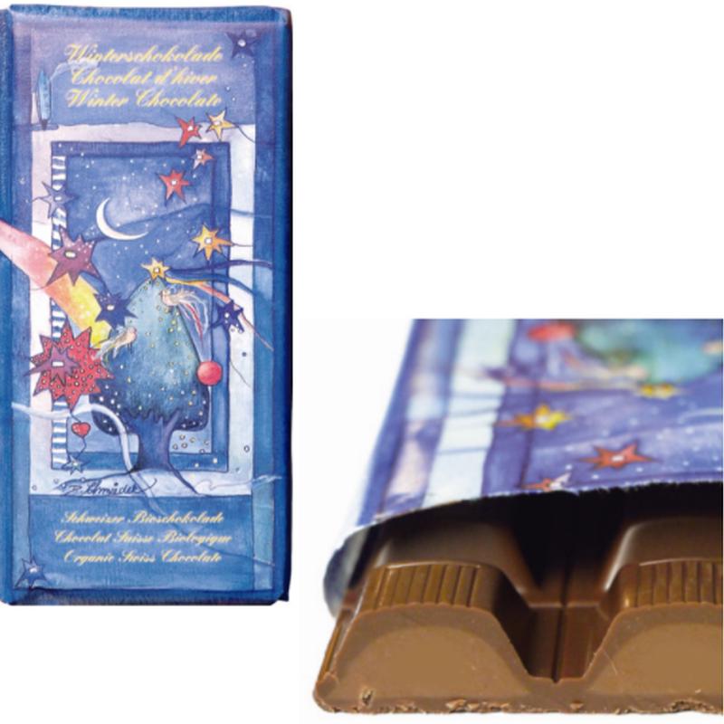 フェアトレードウインターチョコレート 100g 【オーガニック 有機栽培】【添加物不使用】【冬季限定】