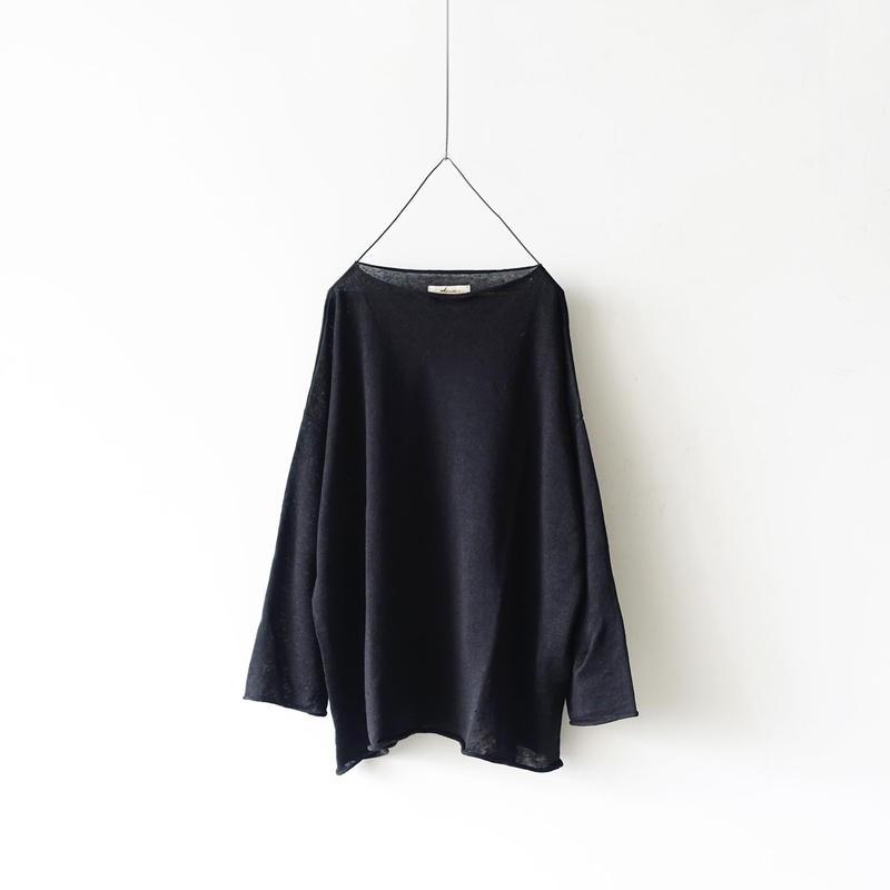 ichiAntiquités 100955  Linen Knit Pullover / BLACK
