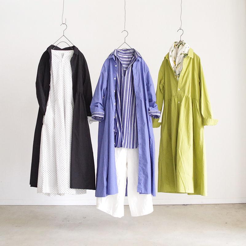 i c h i 181003 Cotton Typewriter Shirts Dress / Black