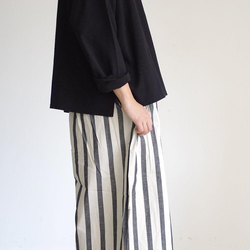 i c h i 181031 C/L Stripe Pants / Black