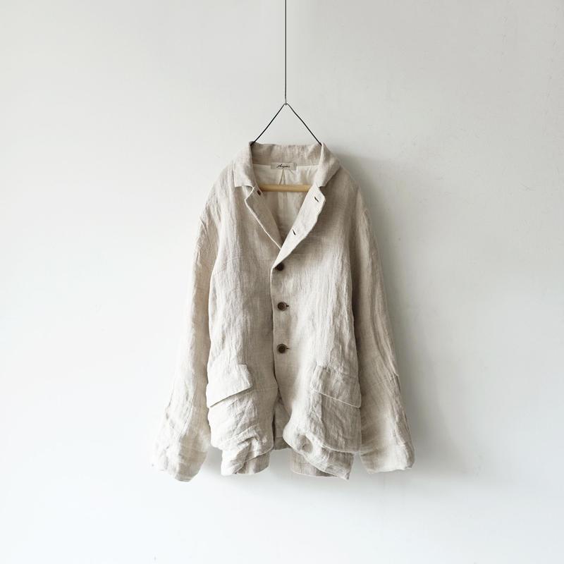 ichiAntiquités 100922  Linen AZUMADAKI Jacket / NATURAL